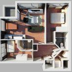 3D apartment impression