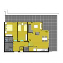 2D apartment impression